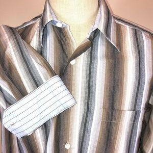 Johnston & Murphy Shirt L Oxford Contrast Cuff